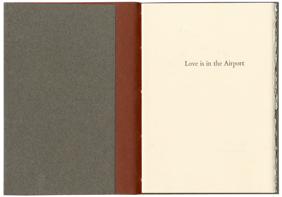 Love is in the Airport Artist Book by Kendra Greene of Greene Ink Press