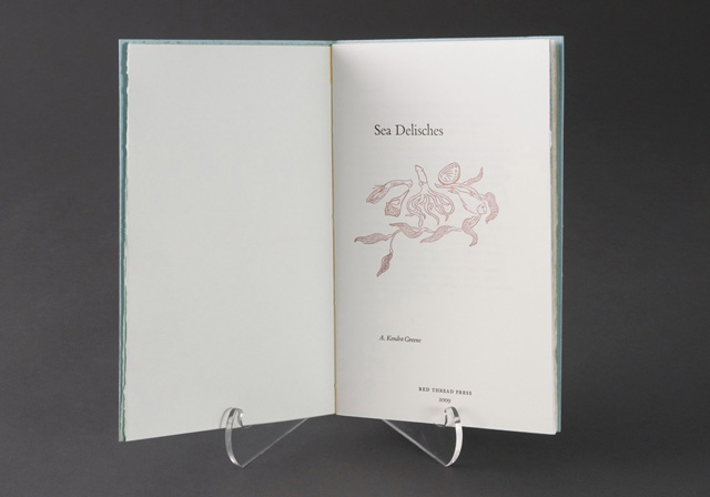 Sea Delisches Artist Book by Kendra Greene of Greene Ink Press