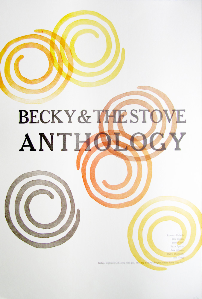 Becky & the Stove Anthology Poster by Kendra Greene of Greene Ink Press
