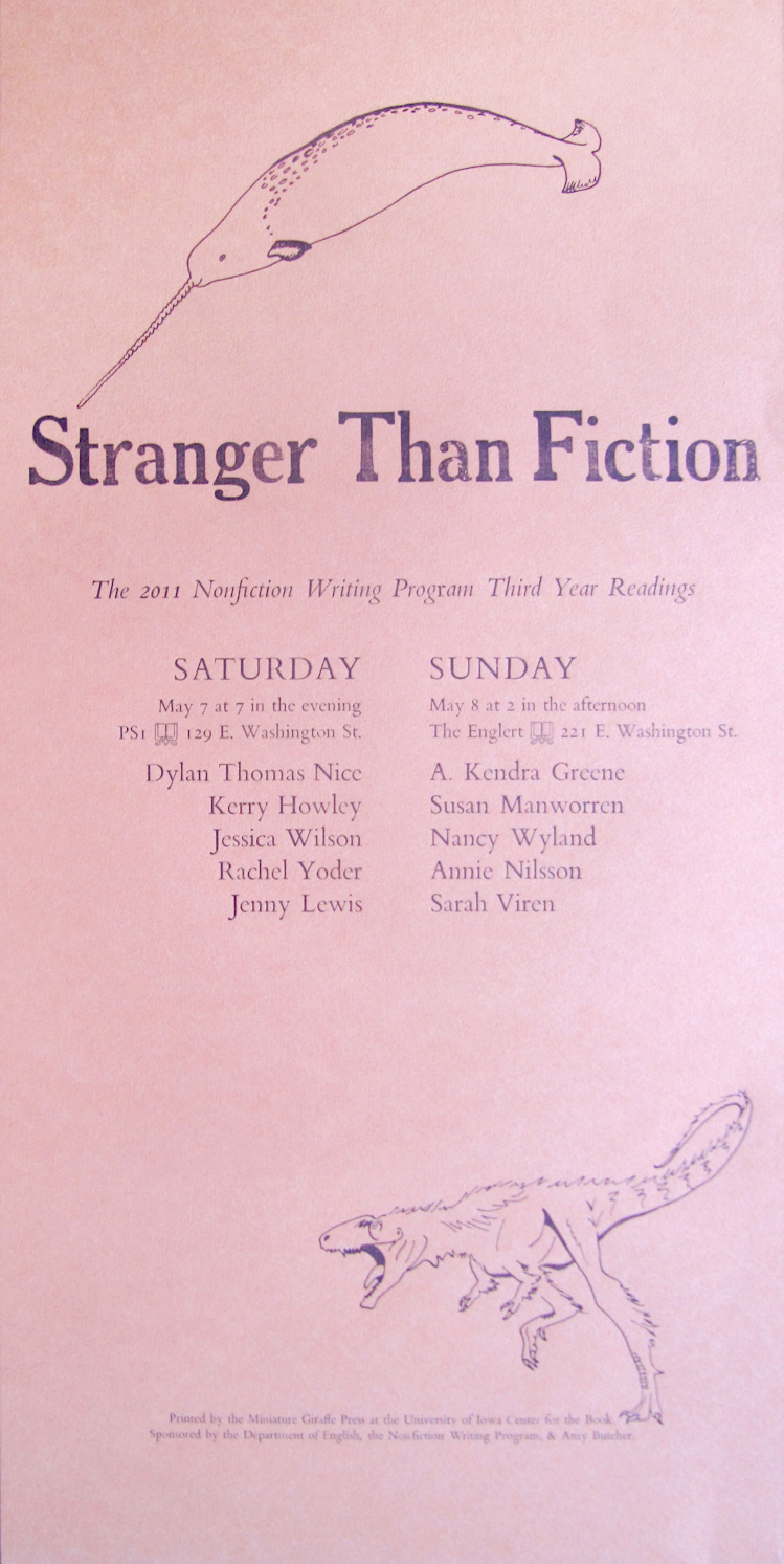 Stranger Than Fiction Poster by Kendra Greene of Greene Ink Press